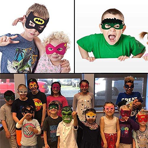 61Upxsik8NL - Ventdest Máscaras de Superhéroe, Suministros de Fiesta de Superhéroes, Máscaras de Cosplay de Superhéroe, Máscaras de Media Fiesta para Niños o Niños Mayores de 3 Años - 32 Piezas