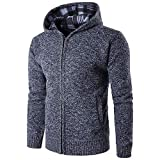 MIRRAY Herren Solides Kapuzenpullover Pocket Zipper Coat Sweatshirt