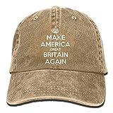 Aoliaoyudonggha Make America Great Britain Again Plain Adjustable Cowboy cap Denim Hat for Women And Men