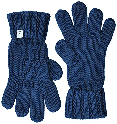 FYT & CO Cable  - Gants - uni - Mixte Bleu (Navy)