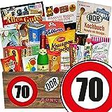 Ostprodukte & Markenbuch | Zahl 70 | Geschenk Mutti | DDR Suessigkeiten-Box