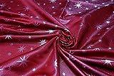 Lurex Sterne Stoff Servietten 6er Set, Gold oder Silber glänzend, Weihnachtsservietten 40x40 cm (Rot-Silber) - 2