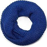 styleBREAKER Feinstrick Schal, einfarbiger Loop Schlauchschal, Feinripp Strickschal, Loopschal, Unisex 01018112, Farbe:Royalblau