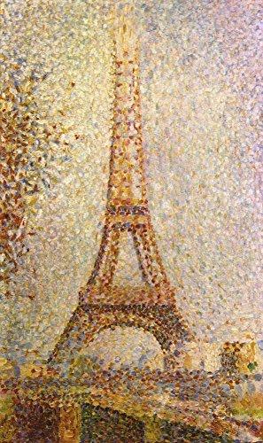 Das Museum Outlet–Der Eiffelturm by Seurat, gespannte Leinwand Galerie verpackt. 147,3x 198,1cm