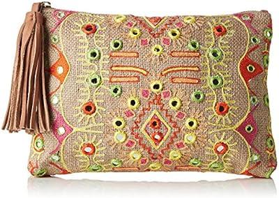 Antik Batik Hudson - Cartera de mano para mujer multicolor Multicolor (Multico) 1x19x27 cm (W x H x L)