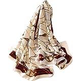 DEBAIJIA Donne Sciarpa Di Seta Grande Quadrato Testa Collo Sciarpe Leggero Neckerchief Avvolge Liscio Moda 180X90cm