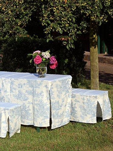 Brigitte von Boch - Toile de Jouy bleu/blanc Housse 70cm