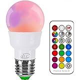 iLC Ampoule Led Couleur Edison Changement de couleur Ampoule 3W E27 RGBW LED Ampoules - RGB 12 choix de couleur - IR Télécommande