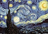 Close Up Riesenposter Vincent Van Gogh Kunstdruck The Starry Night (140cm x 99cm) + Ü-Poster