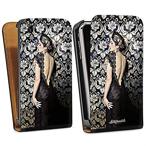 Apple iPhone 5 Housse étui coque protection Anna Karénine Mode Fashion Sac Downflip noir