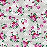 Klebefolie - Möbelfolie - Dots & Flowers silver - 45 x 200 cm - Dekorfolie