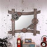 ZI LING SHO- American Creative Iron Gear Hanging Mirror Loft Industrial Wind Bar Cafe Restaurant Wandschmuck Badezimmer Spiegel