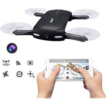 JJRC H37 ELFIE Mini Pocket Foldable Selfie Drone WIFI FPV with Camera Altitude Hold Mode Headless Mode One Key To Return RC Quacopter