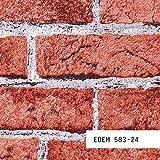 MUESTRA de papel pintado EDEM serie 583 | efecto muro de ladrillos, 583-XX:S-583-24