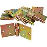 KOTARBAU kistband 100 x 50 mm 10 st. scharnier opgerolde tafelband meubelscharnier verzinkt goud deurband meubelband deurscha