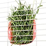 Mkouo Hanging Hay Feeder Manger Rack for Rabbit Guinea Pig Chinchilla