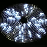 Solalite 50LED Solar-Leuchte 5m Seil Licht Außen Strip Tube Party Weihnachts Garten weiß