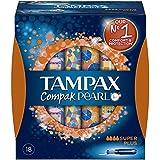 Tampax Compak Pearl - Tampons avec Applicateur en Plastique x 18 - Super Plus - Lot de 3