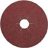 Klingspor 10984 Discos de Fibra Vulcanizados, CS 561, 30 Forma de Perforación, 80 Grano, 115 mm x 22 mm
