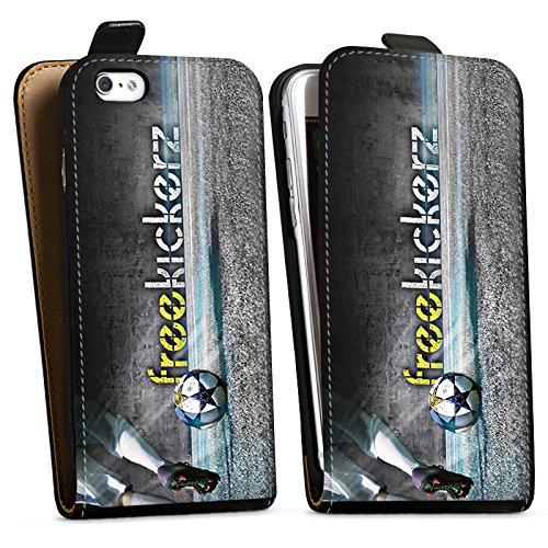 Apple iPhone X Silikon Hülle Case Schutzhülle Freekickerz Fanartikel Merchandise Fußball Downflip Tasche schwarz