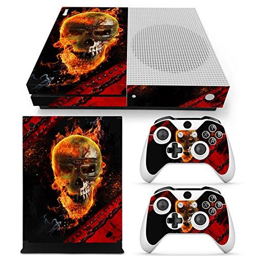 46 North Design Xbox One S Pegatinas De La Consola Skull + 2 Pegatinas Del Controlador