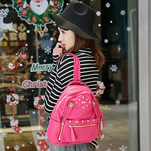 Barbie Zaino da Donna Ragazza Bambina per Scuola in PU, Colore Nero, Rosa, Bianco, 29x15x32CM#BBBP026 Rosa