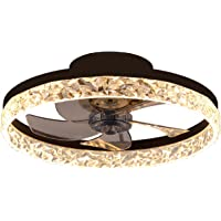 QJUZO Ventilateur De Plafond avec Lumière 30W, Moderne LED Plafonnier Dimmable avec Télécommande, Plafonnier Ventilateur…