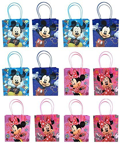 Disney Mickey & Minnie Mouse Mixed Goodie, Favor, Gift Bags 24 Pieces by Disney