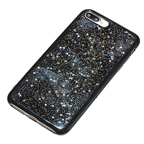 Custodia iphone 7 Plus / iphone 8 Plus, iphone 7 Plus / iphone 8 Plus Cover, iphone 7 Plus / iphone 8 Plus Custodia Silicone,Cozy Hut Case Cover per iphone 7 Plus / iphone 8 Plus, Shiny Sparkly Bling  Cielo dargento