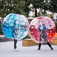 ZauberLu 1,2M/1,5M Bubble Ball Fußball Bubble Soccer für Erwachsene Kinder PVC Zorb Soccer Transparent