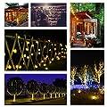 LED Solar Party Lichterkette Außen MY CARBON Wasserdicht 6m/30LEDs Warmweiß für Garten Hochzeit Party Weihnachtsbeleuchtung Lichtervorhang Lichtschlauch Innen- und Außenbeleuchtung