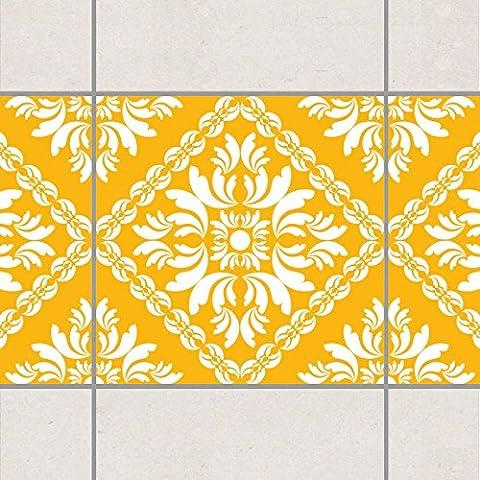 Fliesen Bordüre - Vera Rosa Melon Yellow 20cm x 20cm, Setgröße:20teilig
