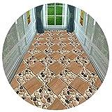 HAIPENG-alfombras pasillo Piedra Camino Corredor Cuttable Entrada Estera Antideslizante Paso para Cocina y Entrada Personalizado (Color : A, Tamaño : 0.8x6.5m)