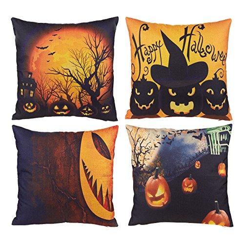 lloween Überwurf Kissenbezügen-Halloween Decor Kissen, Halloween Dekorationen für Couch, Sofa, Stuhl, Motive Sortiert-45x 43,7cm ()