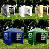 Gr8 Garden Gazebo with Sides Outdoor Waterproof Beach Party Festival Camping Tent Canopy Wedding Marquee Awning Shade 3mx3mx2.45m