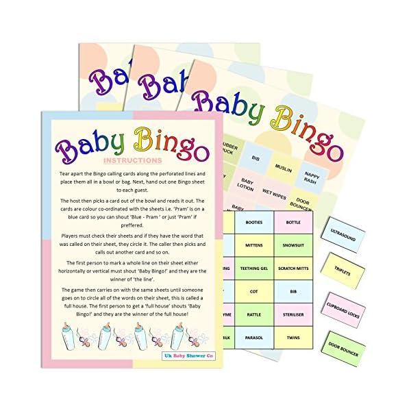20 Sheet Baby Shower Bingo - Neutral