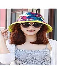 RangYR Mujeres Sombrero Verano Caída Gorra De Protección Solar Plegable del  Casquillo del Paño Al Aire e6a29ce1d46