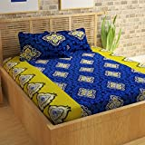 #4: Story@Home Premium 120 TC Cotton Double Bedsheet with 2 Pillow Covers - Navy Blue
