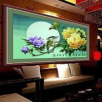 Punto croce, uccello, fiore, stile cinese, p0172