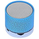 #8: Captcha® H20 LED Portable Mini Bluetooth Dancing Light Wireless Stereo Speaker with TF USB FM & MIC Loud Speaker for iPhone X & LG G5, Mobile