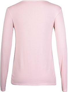e672ba3a6bc6 Générique Neuf Femmes Ras de Cou Simple uni Manches Longues T-Shirt ...