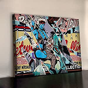 FAILE GRAFFITI STREET ART Affiche encadrée 340gsm XL 30 x 20 cm en coton épais tableau de bureau 750 x 500 mm