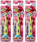 Signal Brosse a Dents Enfant 2-6 Ans lot de 3 coloris aleatoire