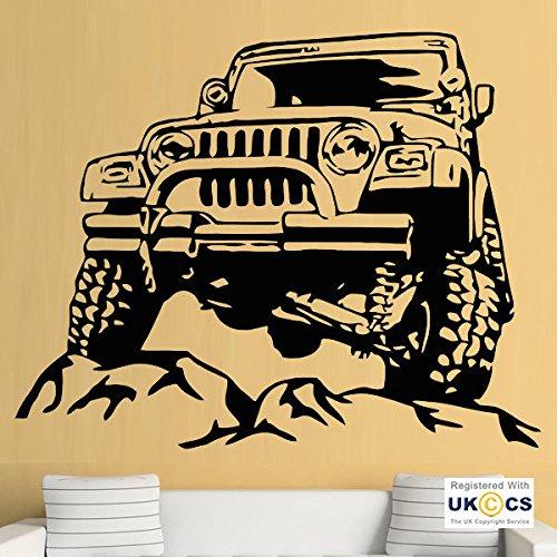 Offroad Jeep Armee kühlen Jungen Schlafzimmer COD-Wand-Kunst-Aufkleber-Abziehbilder Vinyl-Hauptraum Schlafzimmer Jungen Mädchen Kinder Erwachsene Heim Zitate Küche Badezimmer Wandaufkleber (Erwachsenen-schlafzimmer-wand-abziehbilder)