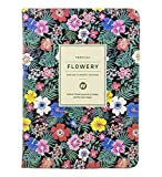 Ai-life Daily Planner Calendar Schedule Organizer Notebook with Non Dated Page, Flora Pattern Bound To-Do List Book - Daily Planner To Do Pad - Best Agenda Day Planner to Achieve Your Goals & Increase Productivity(130x180mm)