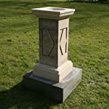 Garden Bird Bath Feeders - Grand Design Stone Birdbath & Pedestal