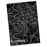 Mr. & Mrs. Panda Postkarte Stadt Duisburg Stadt Black - Stadt Dorf Karte Landkarte Map Stadtplan Postkarte, Postkarten, Einladungskarte, Geschenkkarte, Brief, Spruch des Tages, Kärtchen, Geschenk, Karte, Papier, Einladung, Fan, Fanartikel, Souvenir, Andenken, Fanclub, Stadt, Mitbringsel