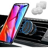 FLOVEME Kabel-Klammer Handyhalter Fürs Auto, Magnet KFZ Handyhalterung mit 4 Magnetischen Metallplatten Für iPhone XS…