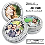 Personalisierter DOCTORS LIP BALM, Lippenpflege, mit Foto, Geschenk für Frauen, Männer, Geschenkidee, 3 x 14g Retro Dose