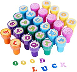 TOYMYTOY Alphabet Letters Stamps Stampers Set A to Z Multicolor Kid Toy 26 Pieces